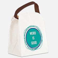 Weird Is Good Canvas Lunch Bag