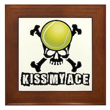 Kiss My Ace Framed Tile