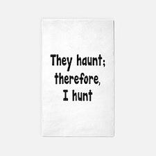 Ghost Hunter's Philosophy 3'x5' Area Rug