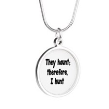 Ghost Hunter's Philosophy Silver Round Necklace