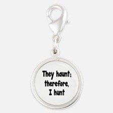 Ghost Hunter's Philosophy Silver Round Charm