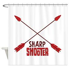 SHARP SHOOTER Shower Curtain