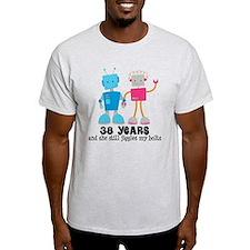 38 Year Anniversary Robot Couple T-Shirt