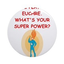 EUCHRE2 Ornament (Round)