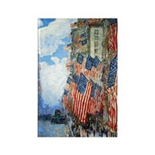 The Fourth of July by Childe Hass Rectangle Magnet
