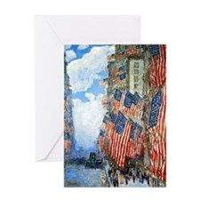 The Fourth of July by Childe Hassam Greeting Card