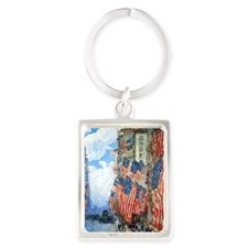 The Fourth of July by Childe Has Portrait Keychain