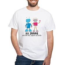 33 Year Anniversary Robot Couple Shirt