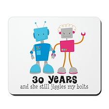30 Year Anniversary Robot Couple Mousepad