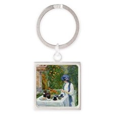 The Terre-Cuite Tea Set (French Te Square Keychain