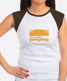 """""""Stay Gold Ponyboy"""" [The Outs Women's Cap Sleeve T"""