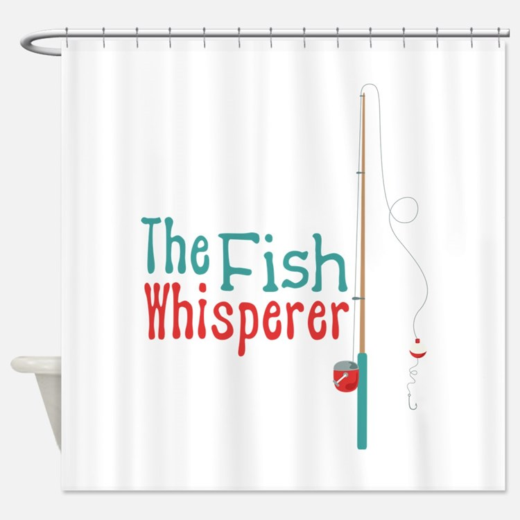 Tool time shower curtains tool time fabric shower for The fish whisperer