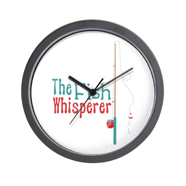 The fish whisperer wall clock by hopscotch4 for The fish whisperer