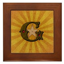 Masonic Letter G Framed Tile