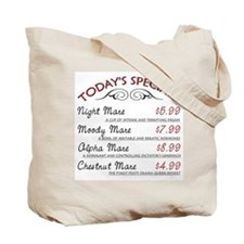 Funny Mare Menu Tote Bag