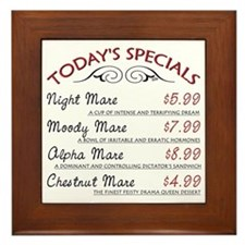 Funny Mare Menu Framed Tile