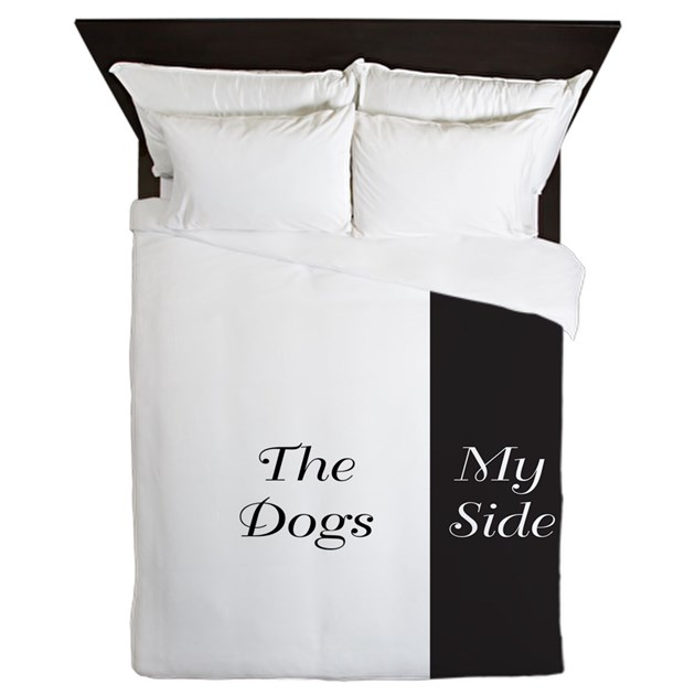 the dogs side my side queen duvet by decorativedesigns. Black Bedroom Furniture Sets. Home Design Ideas