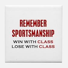 Sportsmanship Tile Coaster