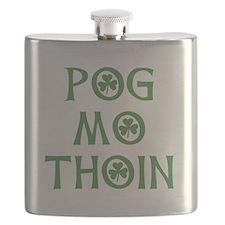 Pog Mo Thoin Shamrock Flask