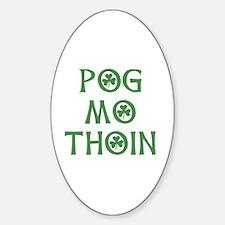 Pog Mo Thoin Shamrock Sticker (Oval)