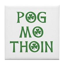 Pog Mo Thoin Shamrock Tile Coaster