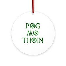 Pog Mo Thoin Shamrock Ornament (Round)