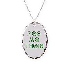 Pog Mo Thoin Shamrock Necklace Oval Charm