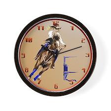 Barrel Horses Rock Trans Wall Clock