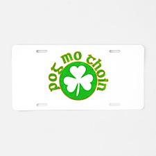 Pog Mo Thoin Circle Aluminum License Plate