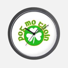 Pog Mo Thoin Circle Wall Clock