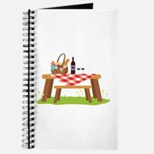Picnic Table Basket Wine Journal