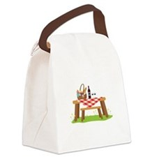 Picnic Table Basket Wine Canvas Lunch Bag