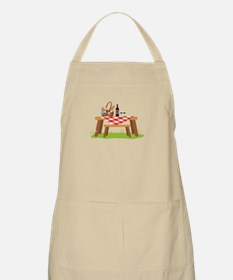 Picnic Table Basket Wine Apron
