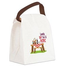 Lovely DAY For A PICNIC Canvas Lunch Bag