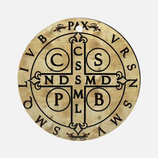 St. Benedict Medal Ornament (Round)