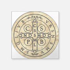 "St. Benedict Medal Square Sticker 3"" x 3"""