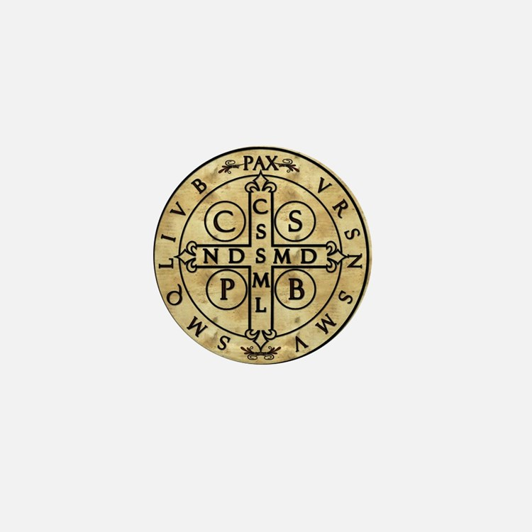 St. Benedict Medal Mini Button (100 pack)