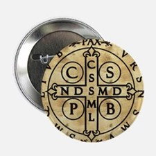 """St. Benedict Medal 2.25"""" Button"""