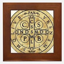 St. Benedict Medal Framed Tile