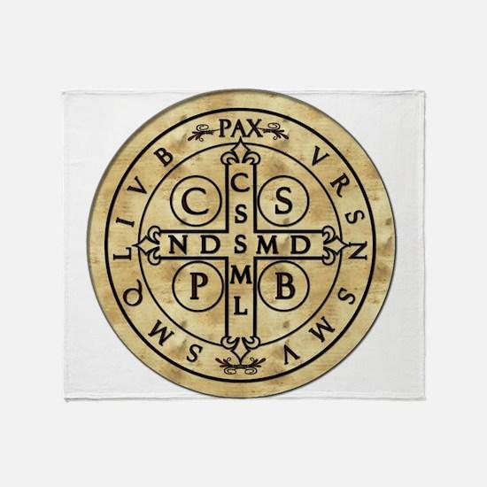 St. Benedict Medal Throw Blanket