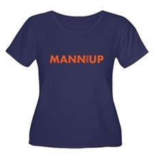 MANN UP! Women's Plus Size Scoop Neck T-Shirt