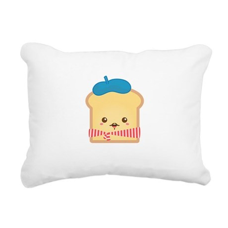 Cute French Toast Rectangular Canvas Pillow by RustyDoodleStore