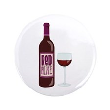 """Red Wine Bottle Glass 3.5"""" Button"""