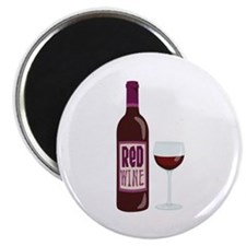 Red Wine Bottle Glass Magnets