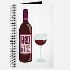Red Wine Bottle Glass Journal