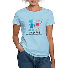 58 Year Anniversary Robot Couple T-Shirt