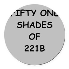 221B Round Car Magnet