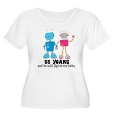 55 Year Anniversary Robot Couple T-Shirt