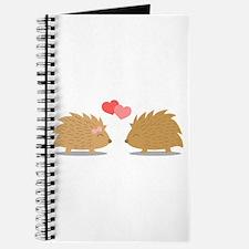 Cute Hedgehog Couple in Love Journal