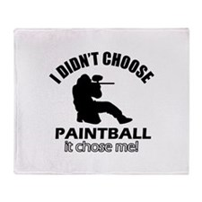 paintball Designs Throw Blanket